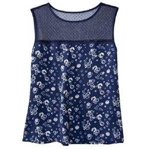 Jason Wu for Target navy floral top